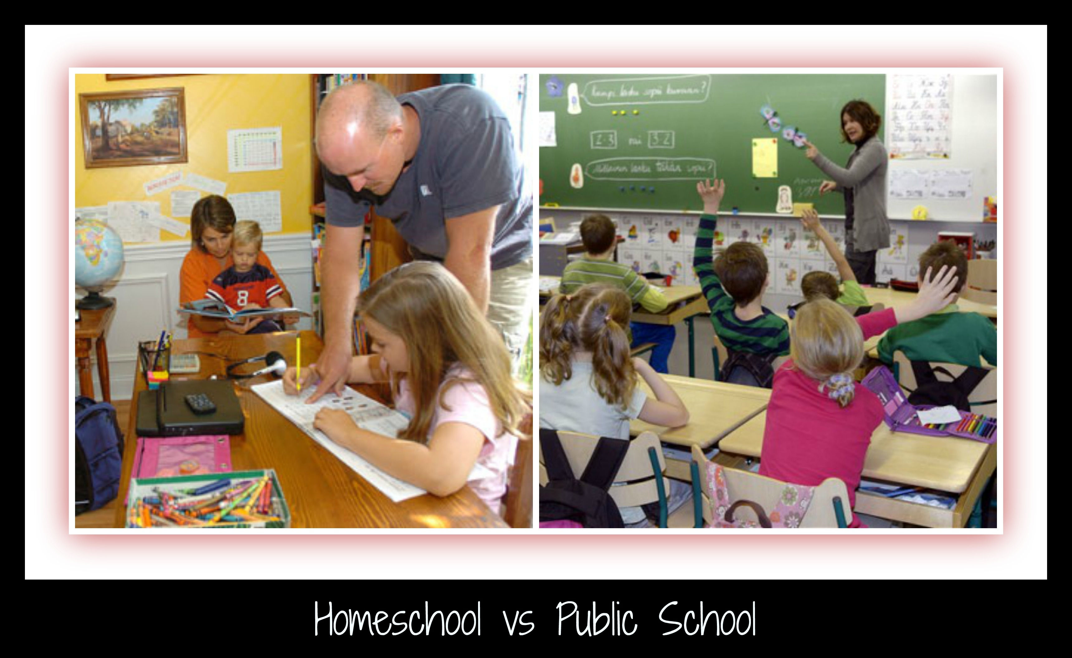 homeschooling and public school Homeschooling vs public schools: this religious website discusses the benefits and drawbacks of homeschooling home school vs public education:.